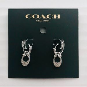 🆕NWT Coach C Crystal Earrings